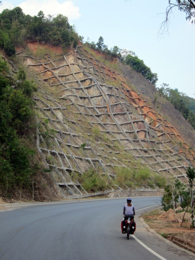 Creative rock slope stabilization