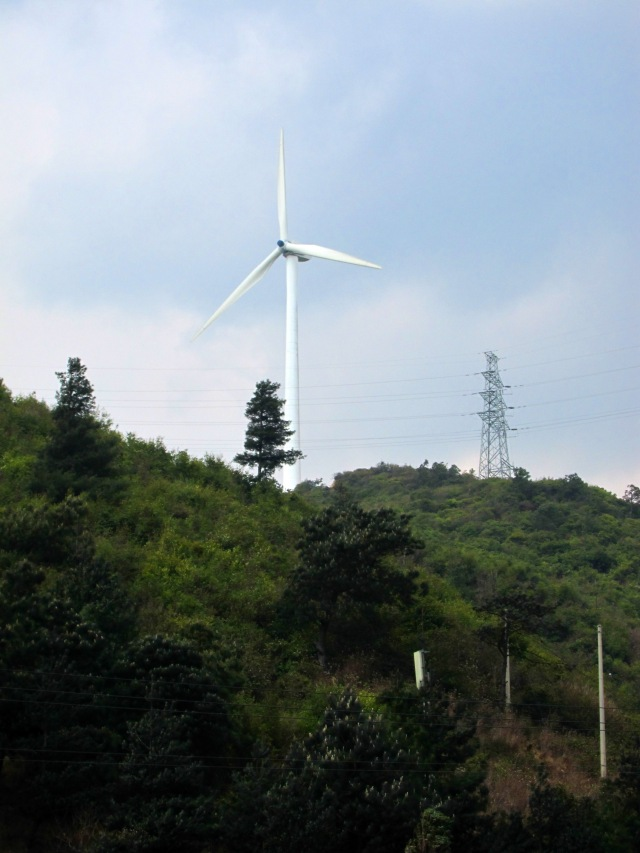 Turbines at the top of the hill