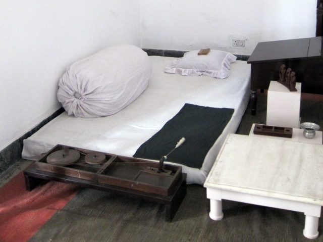 Gandhi's bedroom
