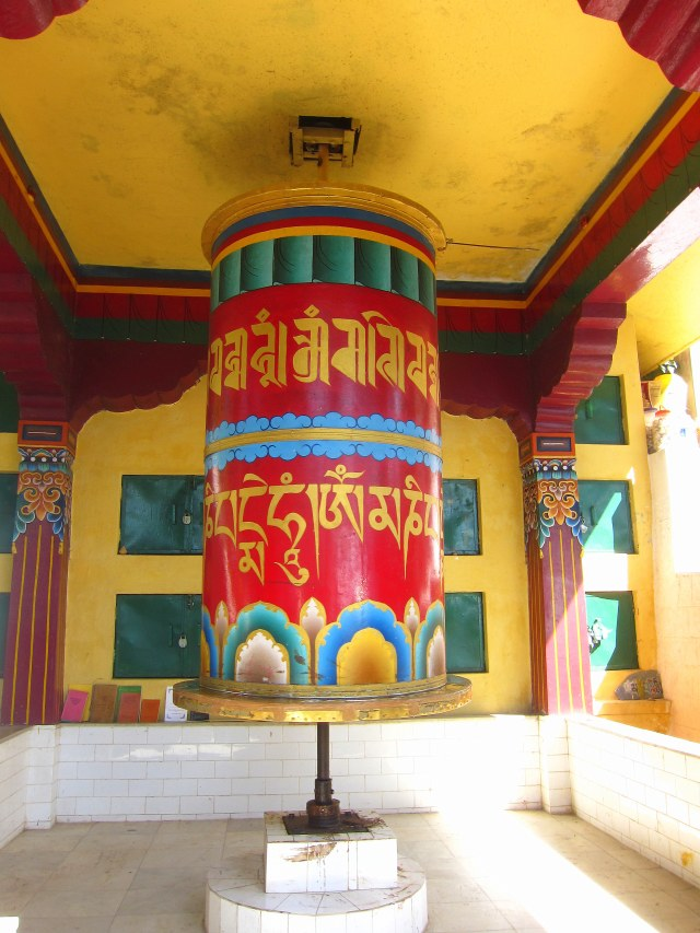The largest of the prayer wheels