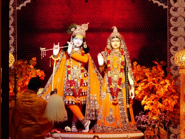 Lord Krishna and his wife