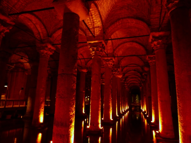 Inside the cistern