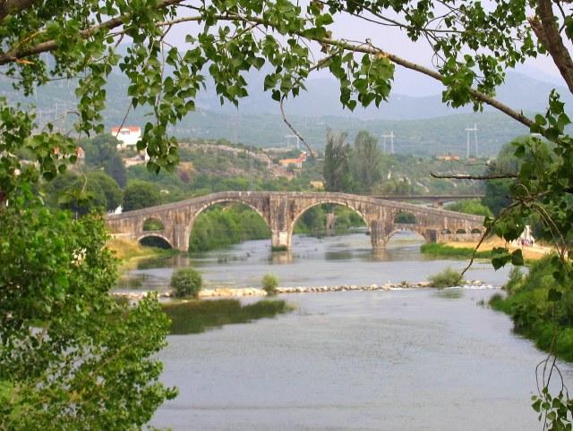Famous Ottoman Arslanagic bridge