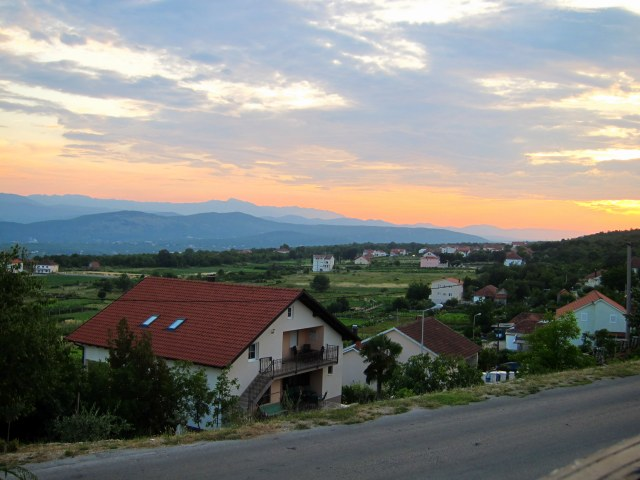 Sun set over Bosnia and Herzegovina
