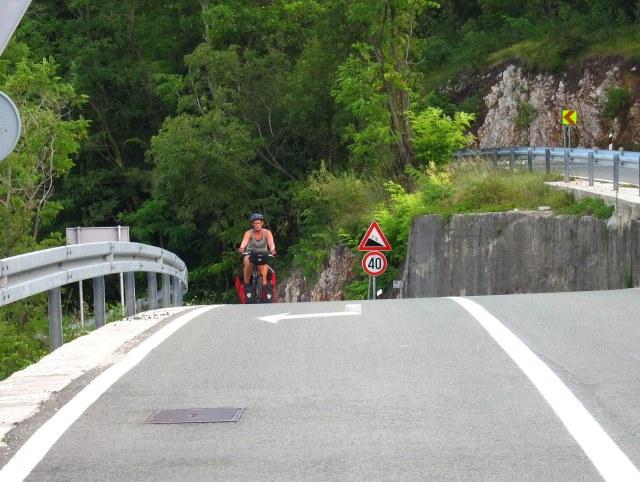 A very steep hill