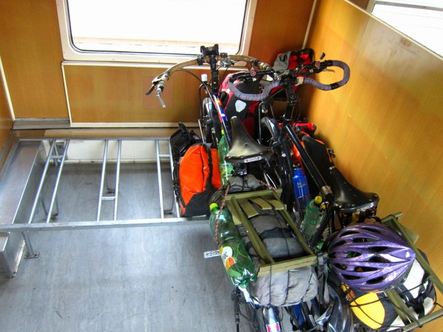 Bike car on train