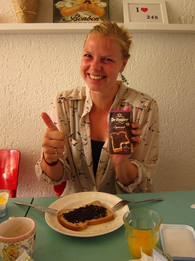 Leonie and a breakfast for champions