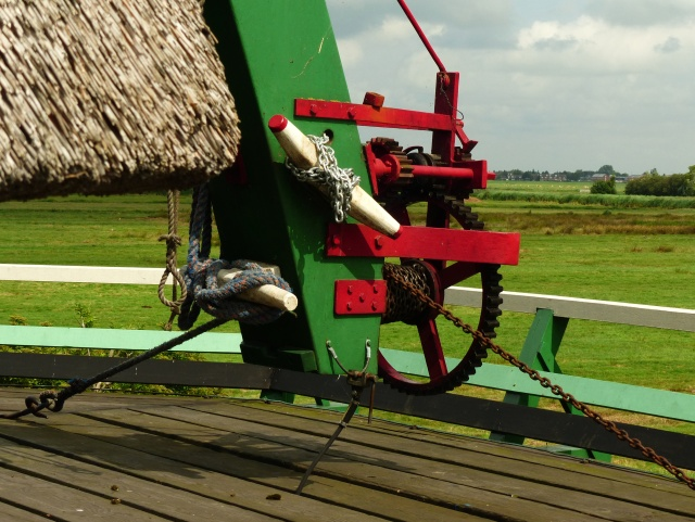 The device to move the cap of the windmill