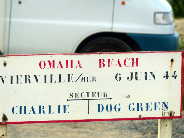 Omaha Beach sign