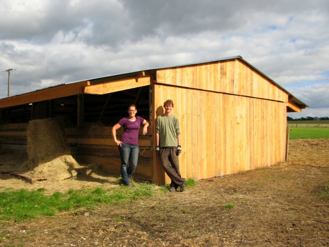 The barn addition we helped build