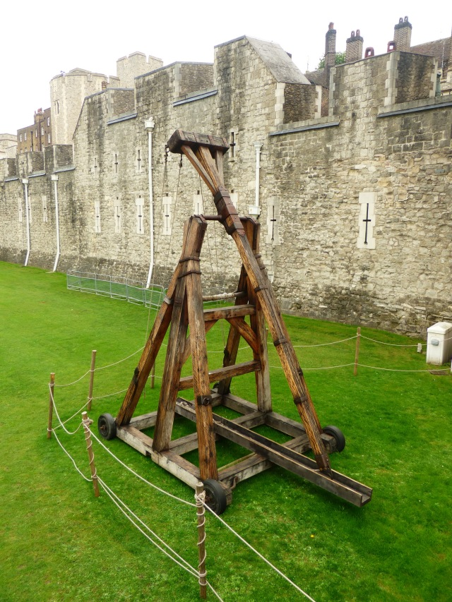 Trebuchet outside the Tower of London