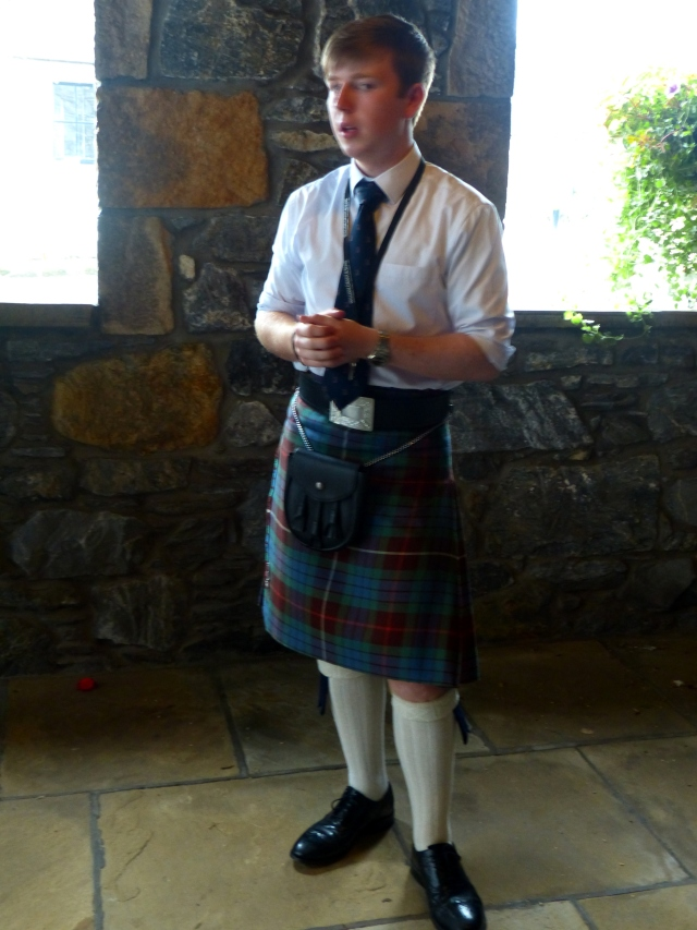 Our guide in a kilt